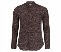 Slim-Fit Hemd mit All-Over Muster