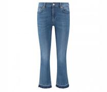 Verkürzte Flared-Leg Jeans