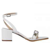 Sandalette mit Label-Detail