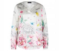 Bluse mit floraler Musterung
