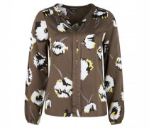 Casualbluse mit floralem Muster