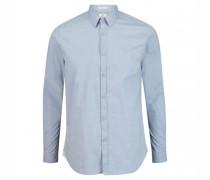 Slim-Fit Hemd mit Strukturmuster
