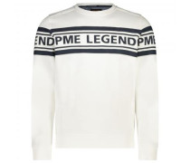 Sweatshirt mit Label-Print