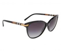 Sonnenbrille mit gemustertem Bügel
