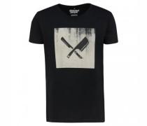T-Shirt 'Grunge Blades' mit Print