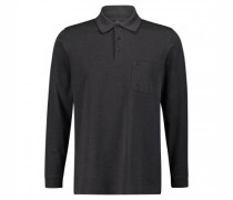 Langärmeliges Poloshirt mit Musterung
