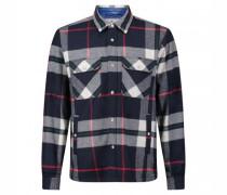 Wattierte Jacke im Hemdenstil