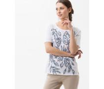 T-Shirt 'Cira' mit Blätter-Print