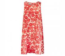 Kleid mit zweifarbigem Blumen All-over Druck