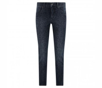 Straight Leg-Jeans 'Cici' mit All-Over Muster