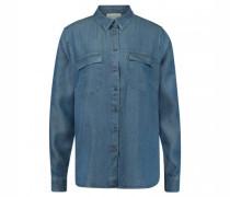 Bluse 'Mihkaa' in Jeans-Optik