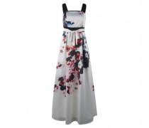 Kleid mit Blumenprint und Bindegürtel
