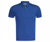 Polo-Shirt mit Leinen Anteil