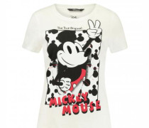 T-Shirt mit Mickey Mouse Print