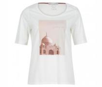 T-Shirt mit Steinchendetails