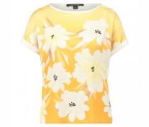 Blusenshirt mit All-over Blumendruck im Vorderteil