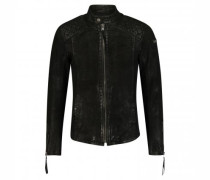 Lederjacke 'Nero buffed' im Bikerstil
