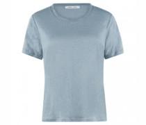 Rudhals T-Shirt aus Leinen