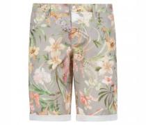 Shorts mit floraler Musterung