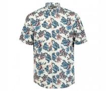 Modern-Fit Hemd mit floralem Print