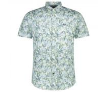 Kurzarm Hemd und all-over Print