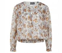 Semitransparente Bluse mit floralem Muster