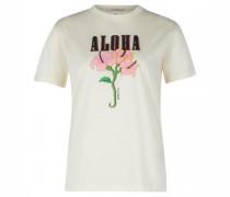 Rundhals T-Shirt mit Aufdruck