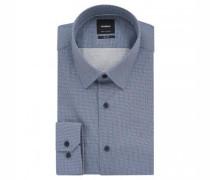Slim-Fit Hemd 'Sander' mit Musterung