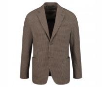 Modern-Fit Sakko mit aufgesetzten Taschen und Hahnentritt-Muster