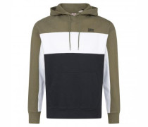 Hoodie in Colour-Blocking Optik