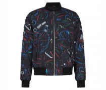 Blouson mit All-Over Muster