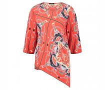 Fließende Bluse mit All-Over Muster