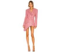 Faux Leather Corsage Detail Blazer Kleid