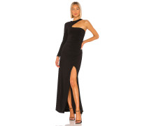 Langes One-Shoulder-Kleid
