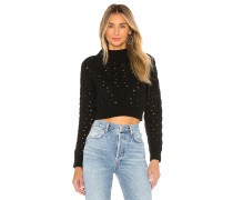 Cropped Cable Pullover