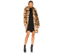 Faux Fur Animal Print Mantel / Jackett