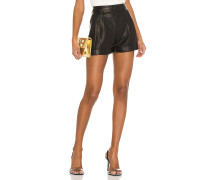 80s Pleated Leather Short