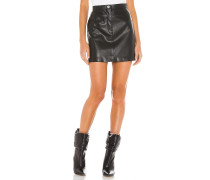 Keep Livin Vegan Leather Minirock