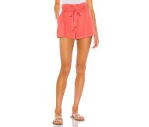 BLACK Rayon Twill Shorts