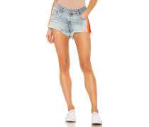 Retro Stripe Bonita Low Waist Jeansshort