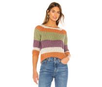 Daja Raglan Striped Pullover