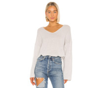Relaxed Double V Hi Lo Pullover