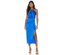 Pleat Halter Kleid