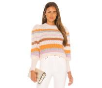 Fluffy Stripe Pullover