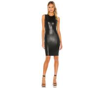 Faux Leather Signature Kleid