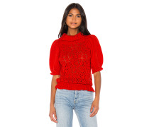 Francois Puff Sleeve Pointelle sweater