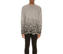 Burn Out Mock Neck Sweatshirt