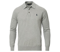 Stricked Longsleeve Polo Andover Heather