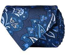 Paisley Silk 8 cm Krawatte Navy