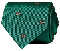 Silk Reppe Woven Bee 8 cm Krawatte Green